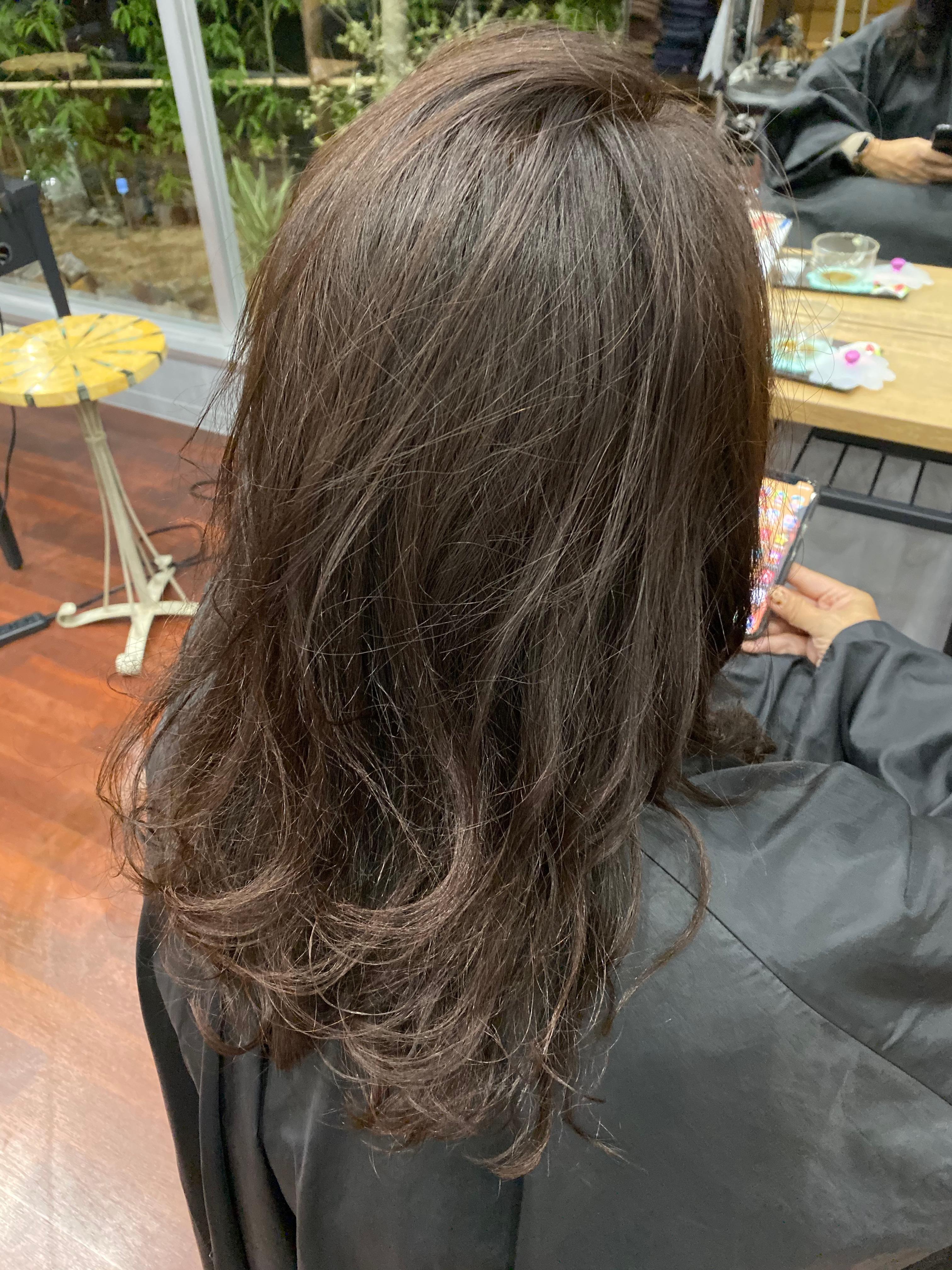 ふっくらクオライン縮毛矯正+毛先デジタルパーマ