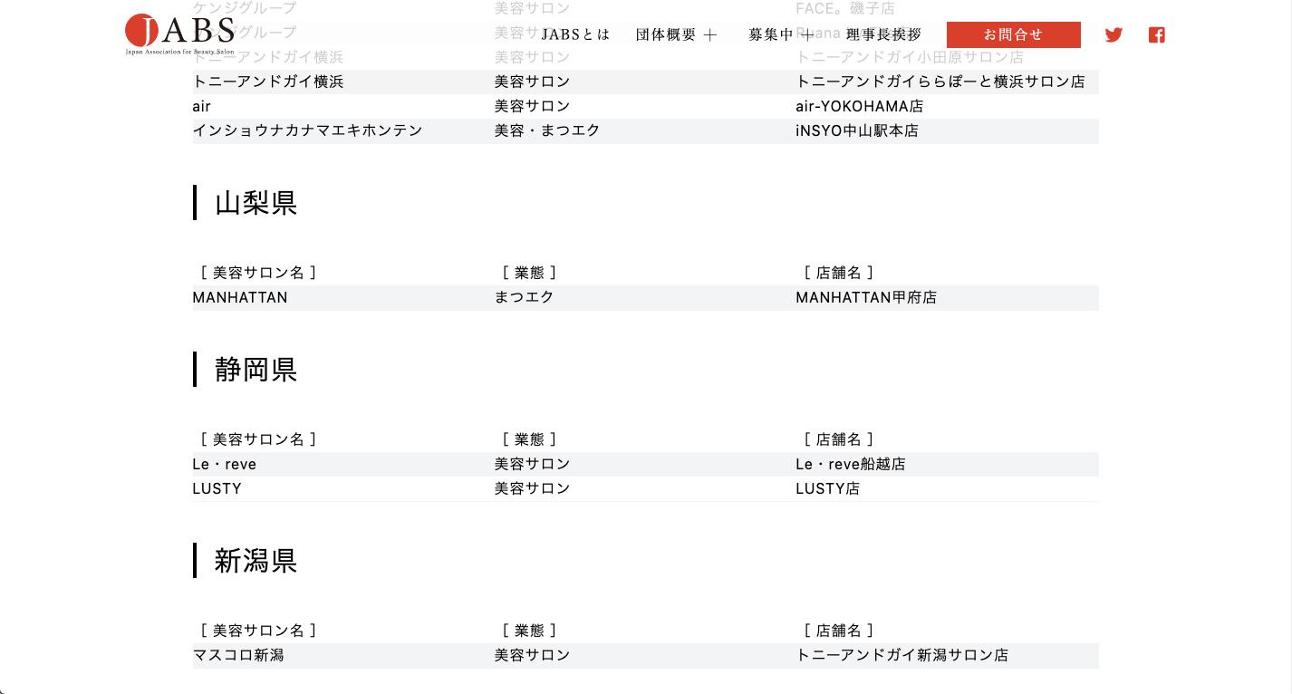 JABS 一般社団法人 日本美容サロン協議会による「美容サロン版 感染対策ガイドライン 新型コロナウイルス感染対策講座 修了サロン」として、静岡県内の美容室で最初にご登録いただきました