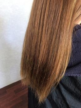 施術前:ファイバープレックス! 髪質改善