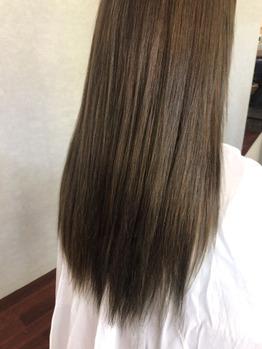 施術後:ファイバープレックス! 髪質改善